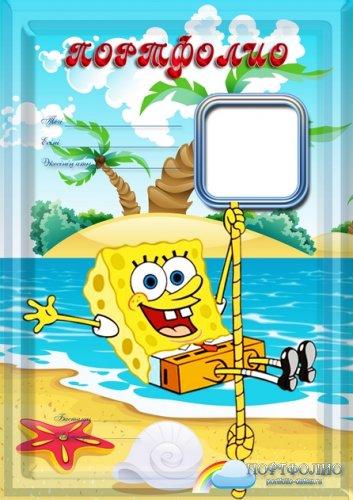 Портфолио для детского сада Губка Боб - SpongeBob на казахском языке